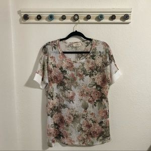 NWOT Floral Over Tee
